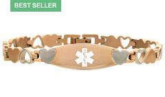 Rose Gold Eternity Medical ID Bracelet