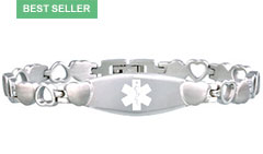 Stainless Steel Eternity Medical Alert Bracelet