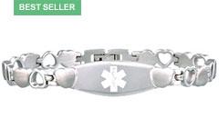 Stainless Steel Eternity Medical Alert Bracelet