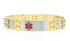 Stainless Steel Lynx Executive Medical ID Bracelet