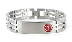 Lynx Trilogy Medical ID Bracelet