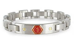 Lynx Midas Stainless Steel Medical ID Bracelet