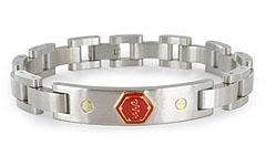 Lynx Midas Stainless Steel Medical ID Bracelet