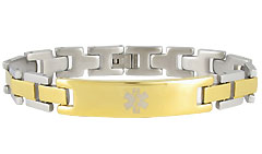 Lynx Noble Stainless Steel Medical Alert Bracelet