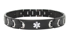 Lynx Onyx Black Medical ID Bracelet