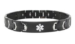 Lynx Onyx Black Medical ID Bracelet