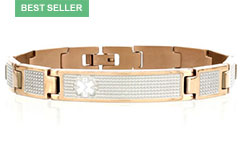 Lynx Shine Medical ID Alert Bracelet