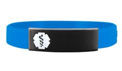 Stainless Steel Onyx Silicone Sleek Medical ID Bracelet