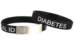Stainless Steel Sleek Diabetes Bracelet
