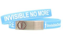 Stainless Steel Sleek Invisible Disabilities Medical ID Alert Bracelet