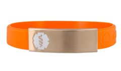 Rose Gold Silicone Sleek Active Medical ID Bracelet