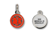 See Medical ID Bracelet Charm