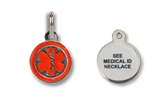 See Medical ID Necklace Charm