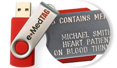 Engraved e•MedTAG Swivel Medical Alert