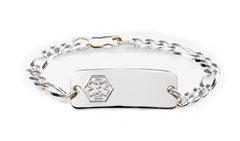 Sterling Silver Toddler Classic Medical ID Bracelet