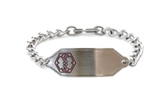 Stainless Steel Small Classic Allergy Bracelet