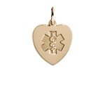 Gold/Gold-Filled Heart Medical ID Necklace