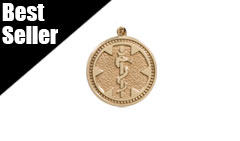Gold / Gold-Filled Medallion Medical ID Charm Necklace