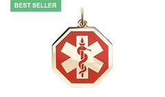 Gold/Gold-Filled Premier Medic ID Necklace Style A