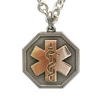 Odyssey Aura Medical ID Necklace with Silver Cable Chain