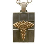 Odyssey Quad Medical ID Necklace with Silver Cable Chain