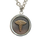 Odyssey Round Medical Allergy Necklace with Silver Cable Chain