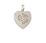Sterling Silver Heart Medical ID Necklace