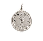 Sterling Silver Medallion Medical ID Necklace