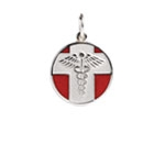 Sterling Silver Vintage Medical Alert Necklace
