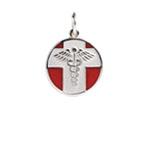 Sterling Silver Vintage Medical Alert Necklace