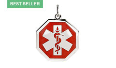 Sterling Silver Premier Medic ID Necklace Style A