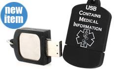 Silicone USB Dog Tag Medical ID Necklace