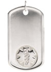 Stainless Steel Medical Allergy Dog Tag Embossed