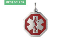 Stainless Steel Premier Medic ID Necklace Style A