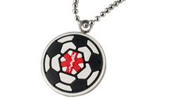Kids Soccer Pendant Medical ID Necklace