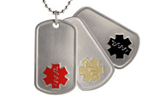 Titanium Medical ID Dog Tag Necklace with Secure MyIHR Access