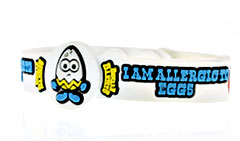 Beware Bandits Egg Allergy Medical ID Bracelet
