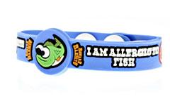 Beware Bandits Fish Allergy Medical ID Bracelet
