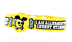 Beware Bandits Insect Sting Allergy Medical Bracelet