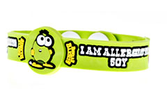 Beware Bandits Soy Allergy Childrens Medical ID Bracelet