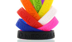 Silicone Sleek Original Bundle Pack Medical ID Bracelets for Kids