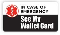 See My Wallet Card Emergency Magnet