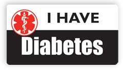 I Have Diabetes Stickers, Decals and Magnets