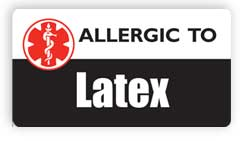 Allergic to Latex Stickers, Decals and Magnets
