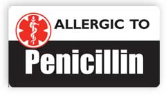 Allergic to Penicillin Stickers, Decals and Magnets