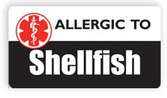 Allergic to Shellfish Stickers, Decals and Magnets