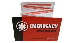 Medical ID Expandable Wallet Card